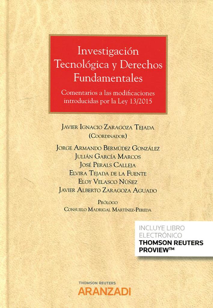 BIBLIO_Portada_Investigación Tecnológica Y Derechos Fundamentales